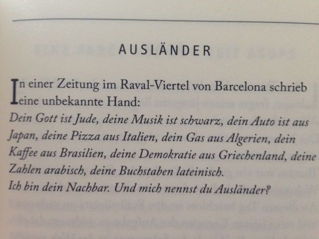 Eduard Galeano, Ausländer (Lutz Kliche)