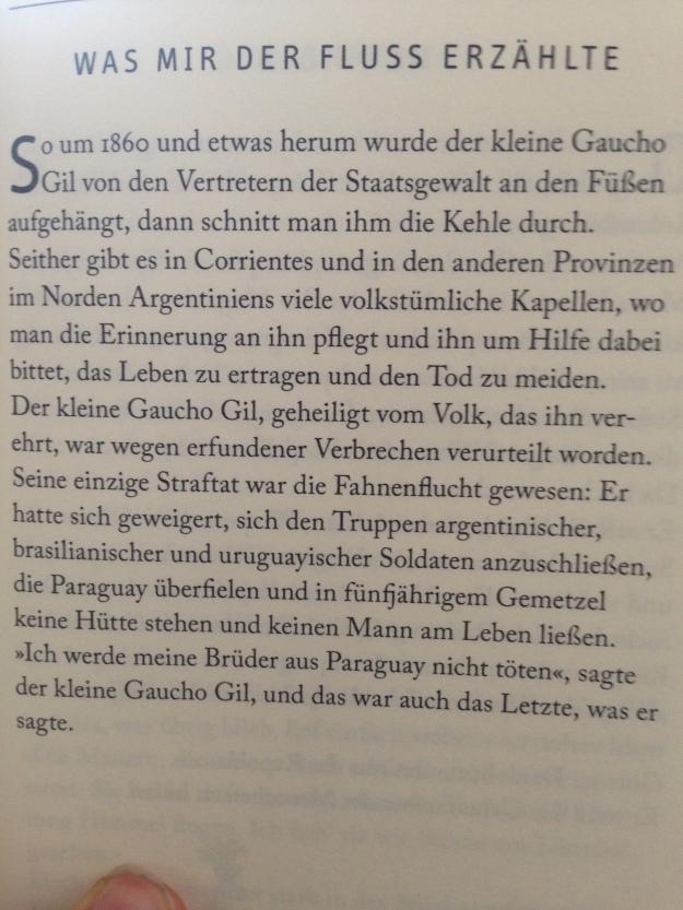 Eduard Galeano, Kleine Gaucho Gil (Lutz Kliche)