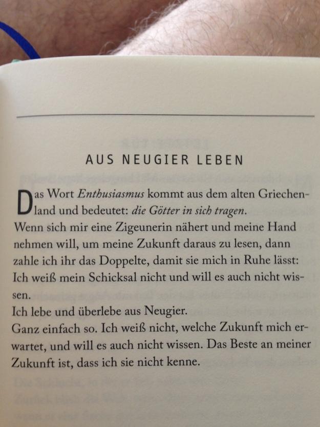 Eduard Galeano, Neugier (Lutz Kliche)